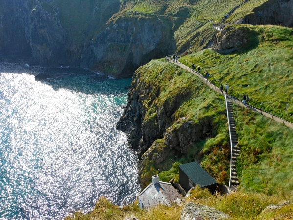 Even though you can't see the rope bridge here, I'm sure you can tell that the crossing was quite harrowing!